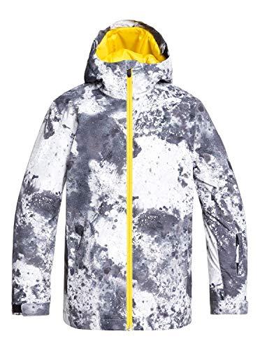 Quiksilver Jungen Schneejacke Mission - Schneejacke für Jungen 8-16, Castle Rock Splash, 12/L, EQBTJ03098