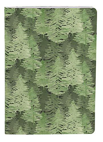 Clairefontaine 115635C - Cuaderno cosido hilo La Vie en Vosges 64 páginas, 14,8 x 21 cm, 90 g, con rayas, cubierta de papel de grano visual aleatorio