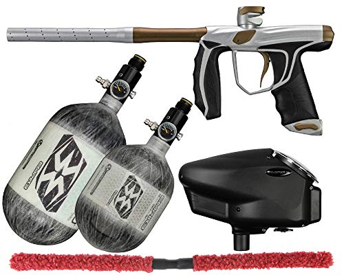 Action Village Empire Axe SYX 1.5 Competition Paintball Gun Package Kit w/Air Tank (Color: Dust Silver/Dk Gold, Tank Size: 68/4500)