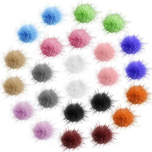 OIIKI 24 PCS 3D Nail Pom Fluffy Balls,...