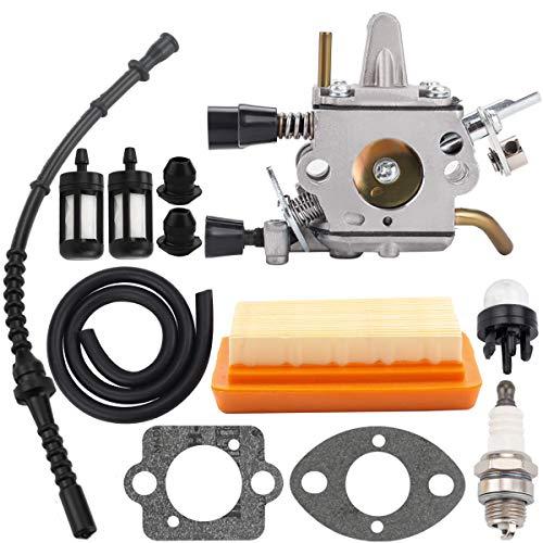 Hipa Carburetor with Gasket Air Filter Primer Bulb Repower Kit for STHIL FS120 FS200 FS250 FS300 FS350 String Trimmer