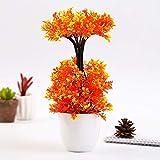 GETSO 1Pc Topf künstliche Blumen-Dual-Layer Bonsai Etage Gartenhaus-Partei-Dekor: Orange
