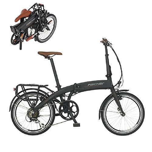 FISCHER Faltrad Vélo électrique. Mixte, Noir, Taille Unique