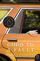 book cover for Good to a Fault by Marina Endicott, orange car with hand out window; books set in Canada