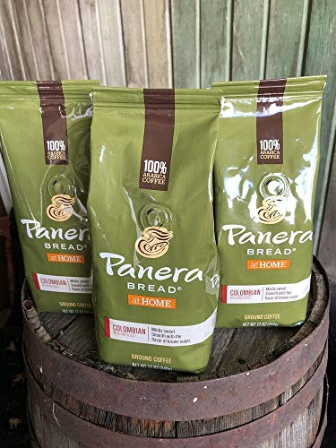 (3) Bags Panera Bread Colombian Med. Roast Ground Coffee USA