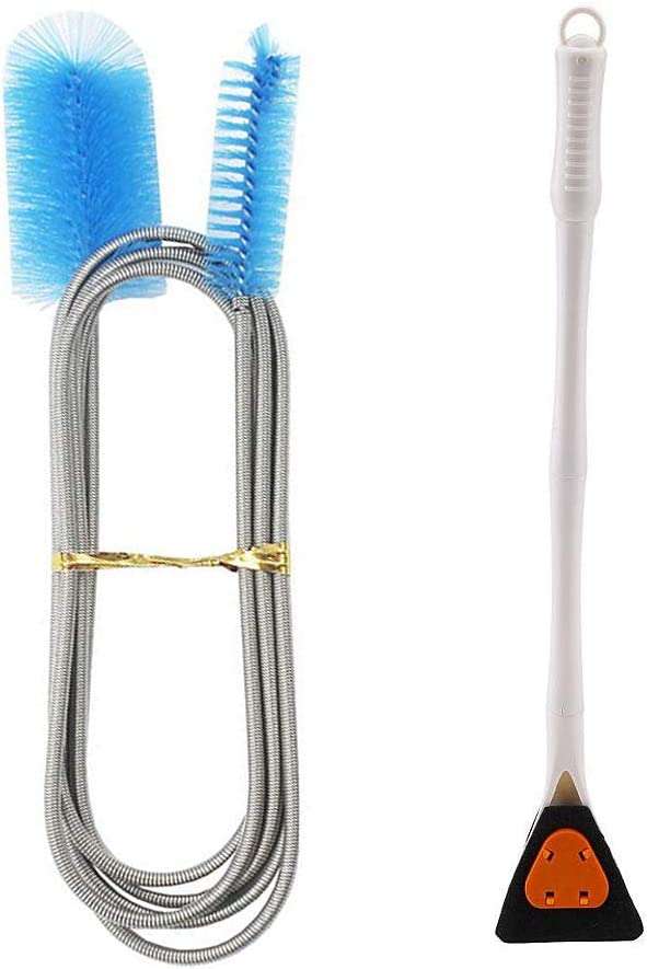 kathson Fish Tank Filter Max 77% OFF Cleaning Brush Long Ended free Double Handle