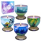 iwax Scented Candles Pure Soy Candles Gift Set for Women Aromatherapy Candles Stress Relief, 4 Fragrances Use for Bath, Yoga, Perfect for Christmas, Birthday, Thanksgiving