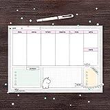 A4 Schreibtischunterlage Papier zum Abreißen, 30 Blatt mit Wochenübersicht | Kalender Wochenplaner Block | Schreibunterlage für den Schreibtisch, für alle Freunde von Katz+Tinte