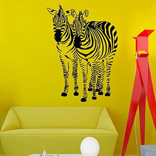 Hetingyue wandstickers, zebra-motief, vinyl, wanddecoratie, wanddecoratie