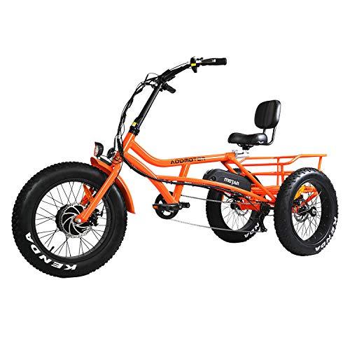 Addmotor Motan Electric Trike, 750W 48V 16AH 3 Wheel M-360 Electric Bike (Orange)