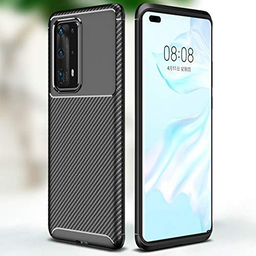 SENDIAYR Estuche a Prueba de Golpes Estuche de TPU Ultra Delgado de Fibra de Carbono Suave Estuches semienvueltos, para Huawei P40 Pro Honor 9A