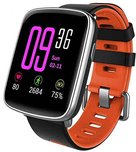 Willful Smartwatch con Pulsómetro,Impermeable IP68 Reloj Inteligente con Cronómetro, Monitor de sueño,Podómetro,Calendario,Control Remoto de música,Pulsera Actividad para Android y iOS (Rojo)