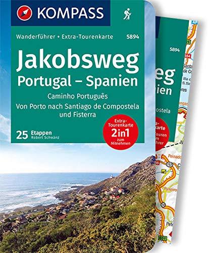 KOMPASS Wanderführer Jakobsweg Portugal Spanien: Wanderführer mit Extra-Tourenkarte 1:50.000, 60 Touren, GPX-Daten zum Download