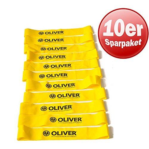 10er Paket OLIVER Rubber O gelb/leicht