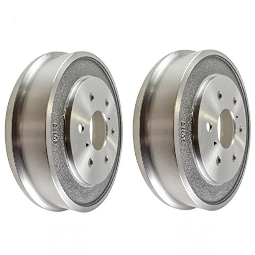 Detroit Axle - 2 Rear Drum Brake Rotors for 2005 2006 2007 2008 Chevrolet Silverado 1500 GMC Sierra 1500