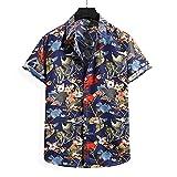 SSBZYES Camisas para Hombre Camisas De Verano De Manga Corta Camisetas para Hombre Tops para Hombre Camisas De Manga Corta para Hombre Camisas Sueltas con Estampado De Flores