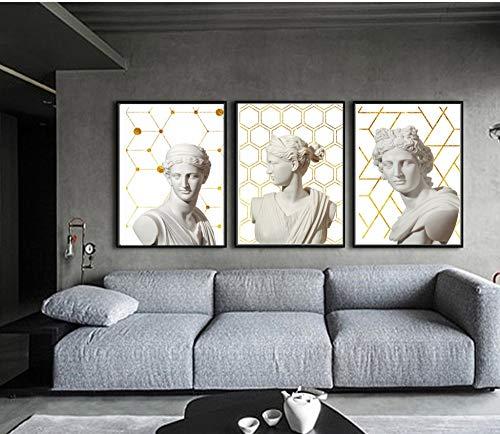 Moderne Retro Leinwand Kunst Poster griechischen Salbei Marmor Skulptur Wandmalerei Poster und Schlafzimmer dekorative Drucke rahmenlose Malerei 50x70cm