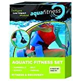 New & Improved AQUA 6 Piece Fitness Set for Water Aerobics, Pool Exercise Equipment, Aquatic Swim...