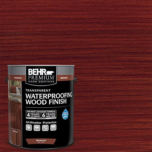 BEHR 1 Gal. Redwood Premium Transparent Deck, Fence & Siding Weatherproofing Wood...