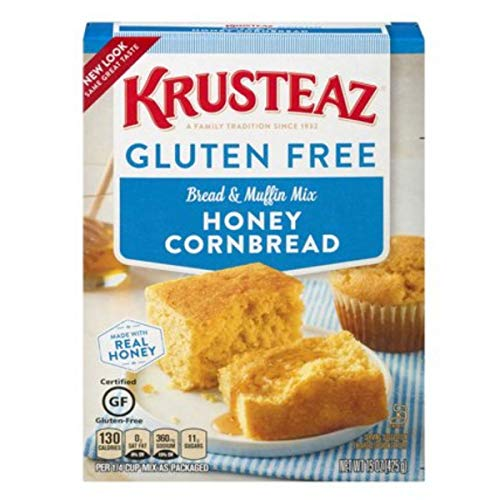 Krusteaz Gluten Free Honey Cornbread Mix, 15 Oz Box