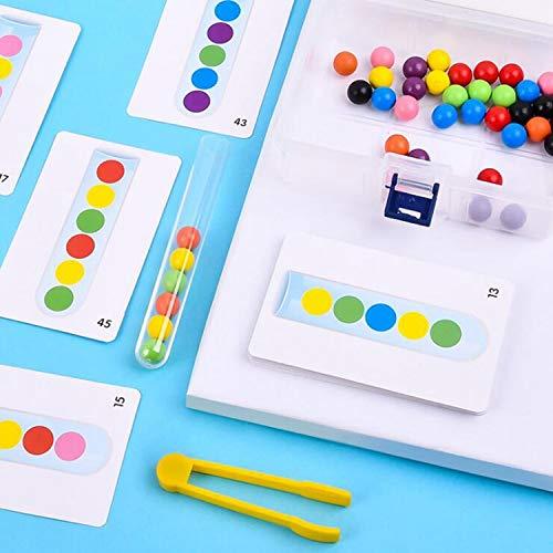 Bimaxta Motorik Pinzette Farben Sortieren nach Vorlagekarten Pinzette Motorikspielzeug Steckspiel Sortierspiel Montessori Feinmotorik Motorik fördern ab bis von 2,3 Jahre Jahr Montessori Geschenke