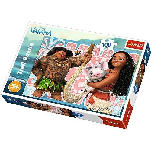 Puzzle 100 Vaiana i przyjaciele