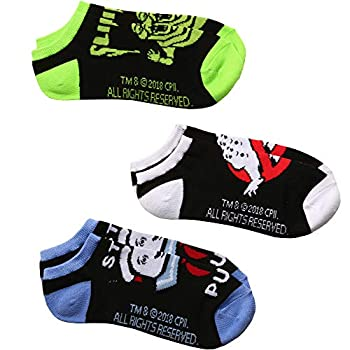 Ghostbusters Logo Slimer Stay Puft Man 3-pack Adult No-show socks