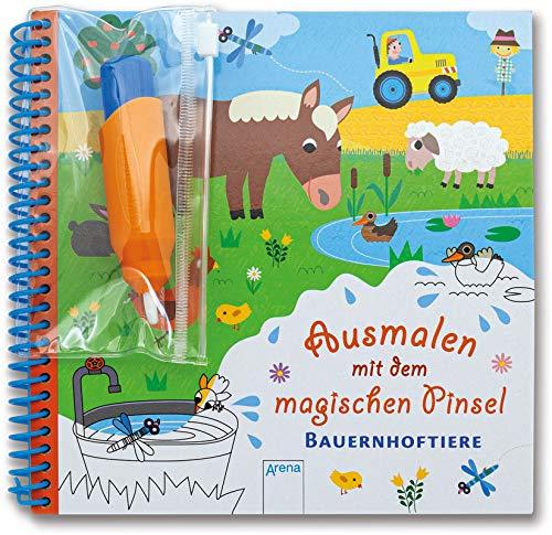 Ausmalen mit dem magischen Pinsel. Bauernhoftiere: Malbuch mit Wassertankstift ab 3 Jahren
