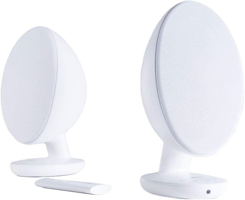 KEF EGG Versatile Desktop Speaker System - Gloss White (Pair)
