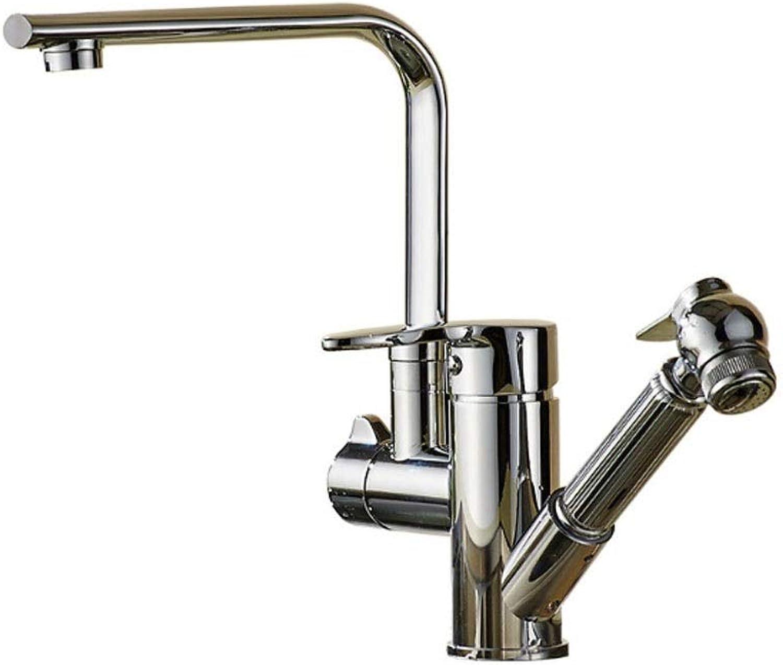 Towero Kupfer Küchenarmatur heies und kaltes Wasser Pumpen Wasserhahn Spüle Spritzpistole Multifunktions modernen drehenden Wasserhahn