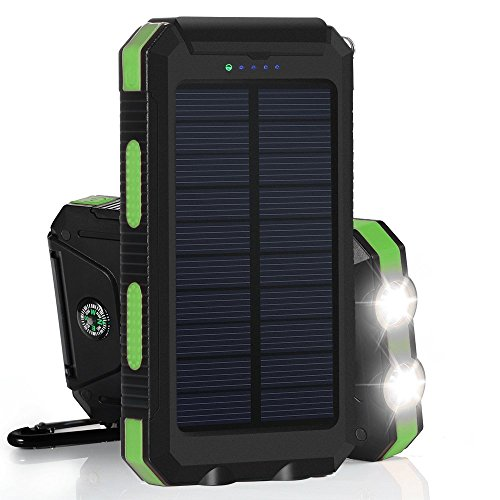 iBetter Solar 11000mAh - robuste Powerbank - grün