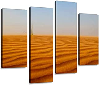 4 Panel the lonely survivor sun of abu dhabi stock pictures, royalty free Canvas Pictures Home Decor Gifts Canvas Wall Art...