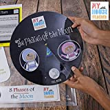 ★ Size:15 BY 10 INCH ★ This folder includes:1. A rotating board which shows the correct flow of phases of the moon, 2.Explanation board which differentiates waxing and waning and hence defines each phase in simple words. ★ FREE PLAY, USE ON FLAT SURF...