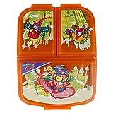 Super ZINGS| Sandwichera con 3 Compartimentos para niños - lonchera Infantil - Porta merienda - Fiambrera Decorada