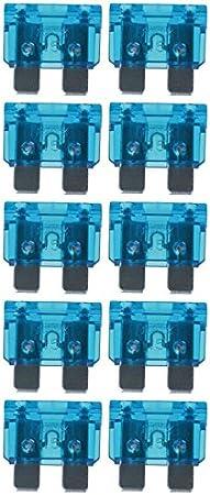 Baytronic Standard Flachstecksicherung Kfz Sicherung 10 Stück 15 A Blau Navigation