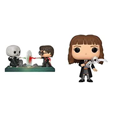 Funko Pop! Moment: Harry Potter - Harry VS Voldemort, Multicolor & Pop! Harry Potter: Harry Potter - Hermione with Feather, Multicolor