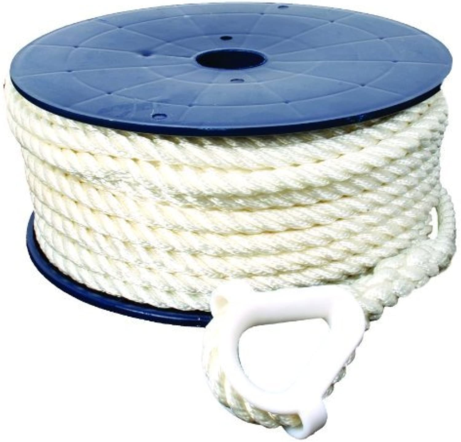 Invincible Marine 150Foot Twisted Nylon Anchor Line, 3 8Inches by 150Feet, White by Invincible Marine