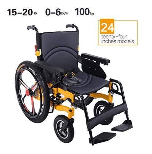51cVuKMIsnL - Sillas de ruedas HYL-silla de ruedas eléctrica Luz silla de ruedas plegable portátil de energía de parasitismo - 24 Inchs Silla de ruedas eléctrica for los ancianos, discapacitados y hemiplejía pacien