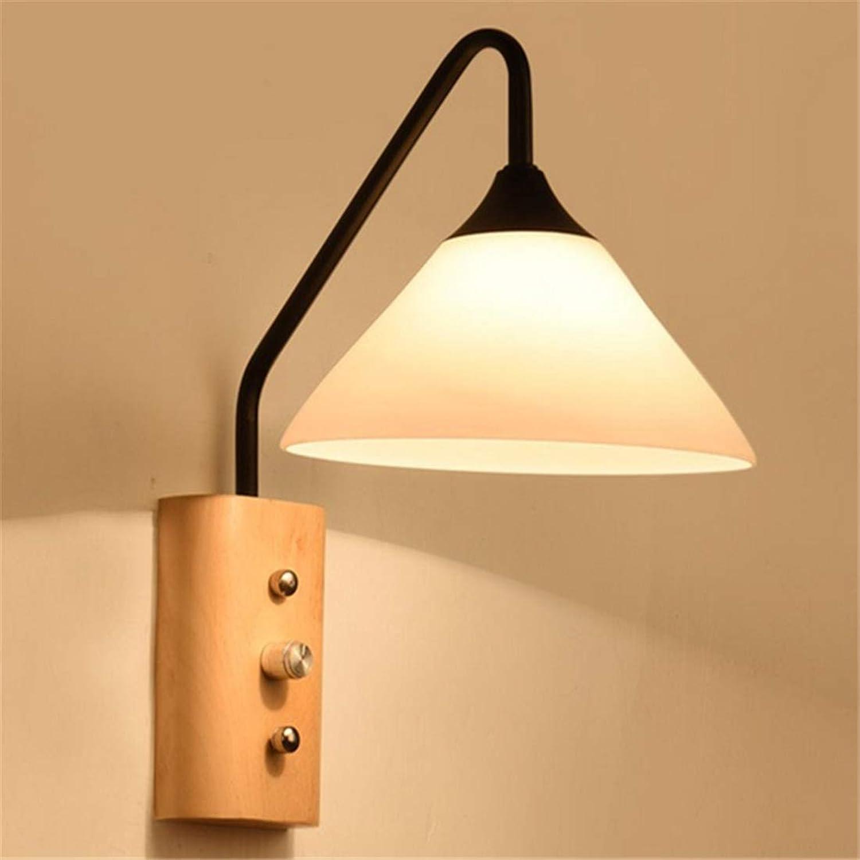 Chandelierwall Wandleuchte Wandleuchten Nordic Kreative Beleuchtung Wohnzimmer Schlafzimmer Nacht Gang Balkon Badezimmer Holz Wandleuchten Massivholzlampen [Energieklasse A ++]