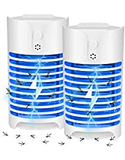 Mosquitoes Killer Lamp, 1.5W UV Mosquito UV Light Fly Traps Intelligent Electronic Mosquito Lamp Powerful Insect Killer Light-Emitting Flying Insect Trap for Indoor Outdoor Patio Garden