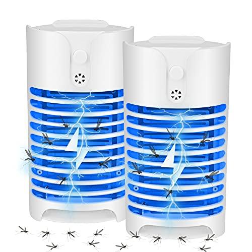 Lámpara Antimosquitos Eléctrico, UV LED Mosquito Lámpara Trampa Aparato Antimosquitos Luz Mata...
