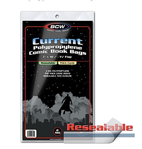 BCW 1-CUR-R-Thick Current Resealable Comic Book Bags