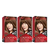 REVLON Colorsilk Beautiful Color Permanent Hair Color with 3D Gel Technology & Keratin, 100% Gray Coverage Hair Dye, 43 Medium Golden Brown, 4.4 oz (Pack of 3)