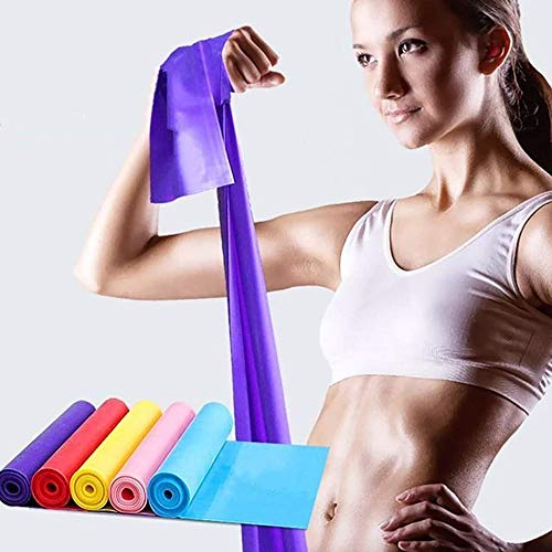 Artio 3Pack Elastic Bands Yoga Stretch Band Pilates Stretch Resistance 1.5m Long Exercise Fitness Band Belt, May Exercise Your Abs, Arms, Legs and Back