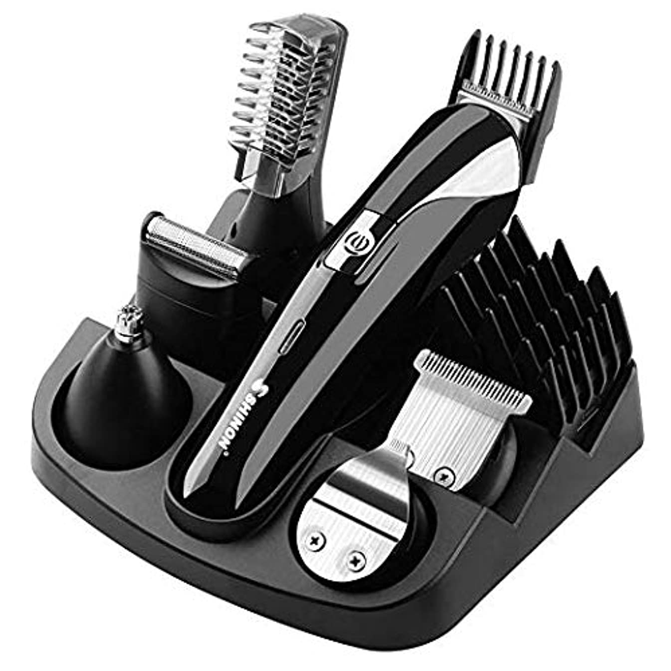 うまくいけばロッドスチュワーデスバリカン 電動バリカン コードレス 一台六役 Alture 3mm-12mm ボウズカッター 充電式 防水 自宅で散髪 高性能 セット 散髪代節約に!家庭用 子供 セルフカット