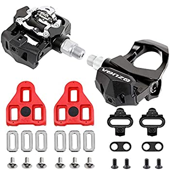 Venzo Sealed Fitness Exercise Indoor Bike CNC Pedals Compatible with Look ARC Delta & Shimano SPD 9/16  Compatible with Peloton