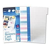 Avery Consumer Products AVE76004 Nonstick Business Card Pages- 100 Card Cap- 8-.50in.x11in.- Clear
