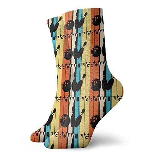 ouyjian Vintage Bowling Socks,Dress Socks Funny Socks Crazy Socks Casual Crew Socks Design#3640