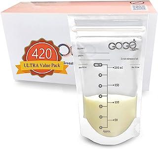 420 CT (7 Pack of 60 Bags) Ultra Value Pack Breastmilk Storage Bags - 7 OZ, Pre-Sterilized, BPA Free, Leak Proof Double Zi...