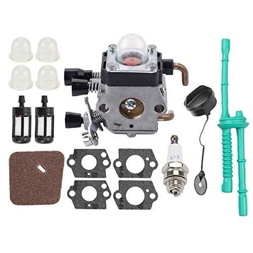 Hippotech Carburador C1Q-S97 para cortadora de Hilo STIHL FS38 FS55R FS45 FS46 FS55 KM55 HL45 FS45L FS45C FS46C FS55C FS55RC
